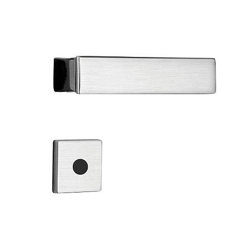 Fechadura para Porta de Banheiro Cromo Acetinado 55mm com Roseta MZ530 Design Papaiz