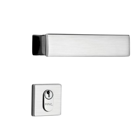 Fechadura para Porta de Entrada Cromo Acetinado 55mm com Roseta MZ530 Design Papaiz