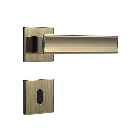 Fechadura para Porta Interna Oxidada 40mm com Roseta MZ640 Design Papaiz