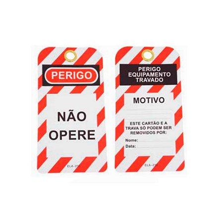 Etiqueta de Segurança PVC Tag Não Opere