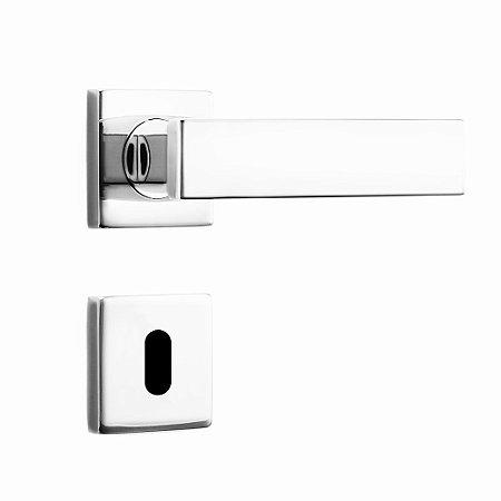 Fechadura de Inox para Porta Interna Cromada55mm com Roseta MI670 InoxvitaPapaiz