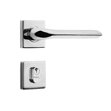 Fechadura de Inox para Porta de EntradaCromo Acetinado55mm com Roseta MI680 InoxvitaPapaiz