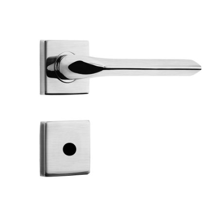 Fechadura de Inox para Porta de BanheiroCromo Acetinado55mm com Roseta MI680 InoxvitaPapaiz