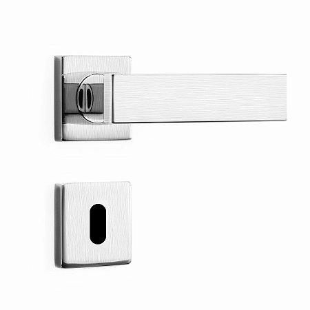 Fechadura de Inox para Porta Interna Cromo Acetinado55mm com Roseta MI670 InoxvitaPapaiz
