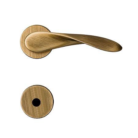 Fechadura para Porta de Banheiro Oxidada 40mm com Roseta MZ420 Design Papaiz
