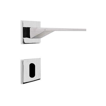 Fechadura para Porta Interna Cromo Acetinado 55mm com Roseta MZ940 Design Papaiz
