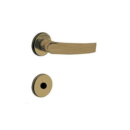 Fechadura para Porta de Banheiro Oxidada 40mm com Roseta MZ950 Design Papaiz