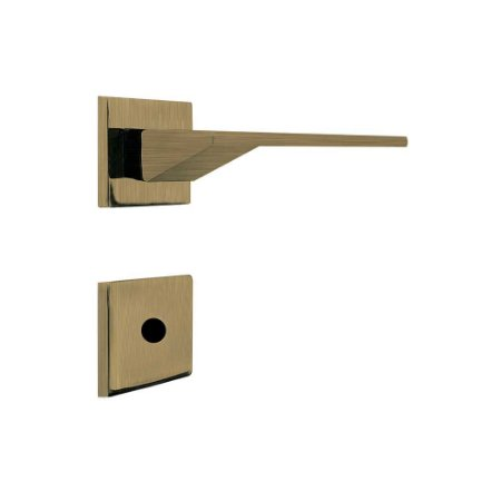 Fechadura para Porta de Banheiro Oxidada 55mm com Roseta MZ940 Design Papaiz