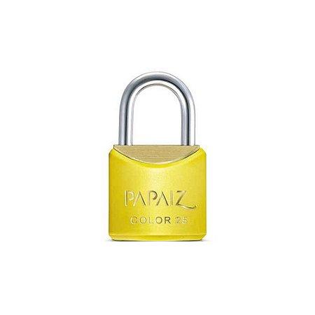 Cadeado com Chave 25mm Latão Amarelo Color Line Papaiz