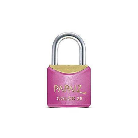 Cadeado com Chave 25mm Latão Rosa Color Line Papaiz