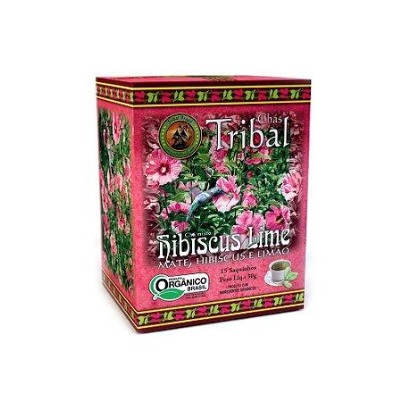 CHÁ HIBISCUS LIME 15 SACHÊS TRIBAL BRASIL