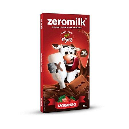 CHOCOLATE COM MORANGO SEM LEITE 80G ZEROMILK