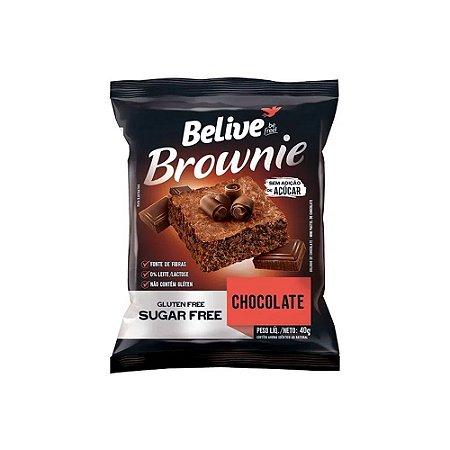 BROWNIE DE CHOCOLATE ZERO AÇÚCAR SEM GLÚTEN 40G BELIVE