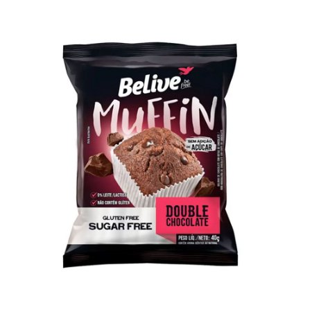 MUFFIN DOUBLE CHOCOLATE SEM GLÚTEN 40GR BELIVE
