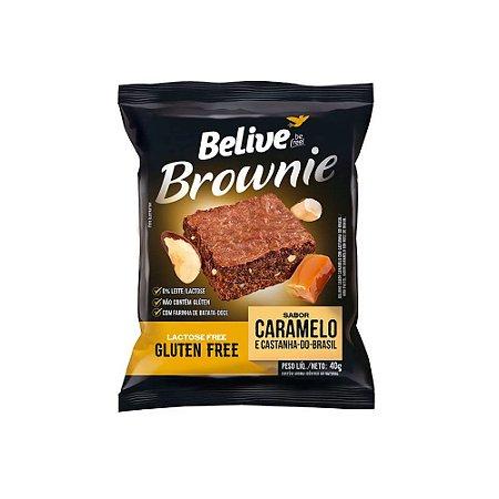 BROWNIE DE CARAMELO COM CASTANHA SEM GLÚTEN 40G BELIVE