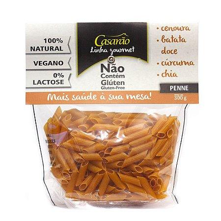 MACARRÃO PENNE CENOURA SEM GLÚTEN 300G CASARÃO