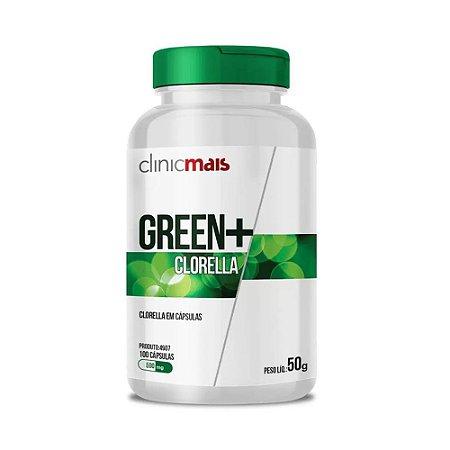 GREEN+ CLORELLA 100 CÁPSULAS 500MG CLINICMAIS