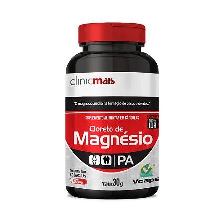 CLORETO DE MAGNÉSIO 60 CÁPSULAS 500MG CLINICMAIS