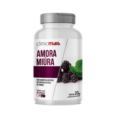 AMORA MIÚRA 60 CÁPSULAS 550MG CLINICMAIS