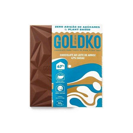 CHOCOLATE 47% ZERO LEITE ARROZ 60G GOLDKO