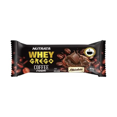BARRA WHEY GREGO COFFEE CHOCOLATE 40G NUTRATA
