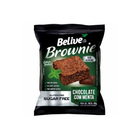 BROWNIE CHOCOLATE MENTA ZERO ACUCAR40G BELIVE