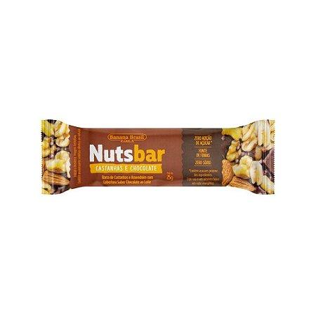 BARRA CASTANHA CHOCOLATE 25G NUTS BAR