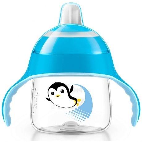 Copo de Treinamento 6m+ Pinguim Azul 200ml - Philips Avent