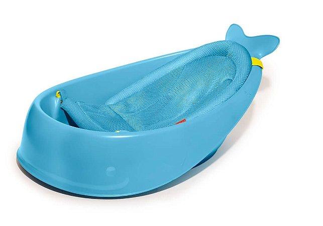 Banheira Infantil Baleia Moby 3 Estágios Cresce com o Bebê - Skip Hop