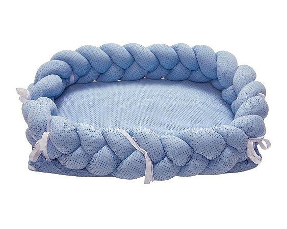 Ninho para Bebê Trança Estampado Azul - Papi Baby