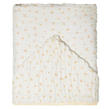 Toalha de Banho Soft Bamboo Mami com Capuz Silhueta Pássaros - Papi Baby