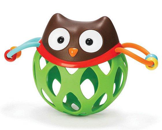 Roll Around Coruja - Chocalho Mordedor - Prêmio de Melhor Brinquedo para Bebê - Skip Hop