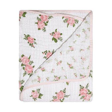 Cobertor Soft Bamboo Mami Rosas - Papi Baby