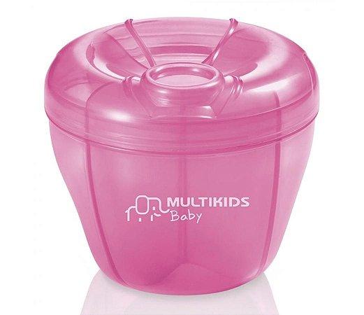Dosador de Leite em Pó Funny Meal Rosa - Multikids Baby