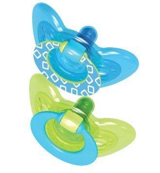 Chupeta Gumdrop Calmante 6+ Meses Azul/Verde (2 unidades) - The Firts Years
