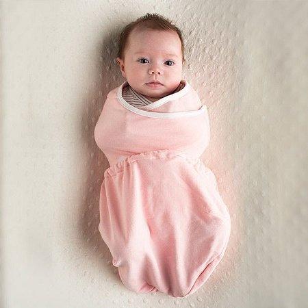 Swaddler Ergobaby - O Inovador e Premiado Cueiro para o seu Bebê Dormir Melhor (02 unidades) - Rosa e Natural