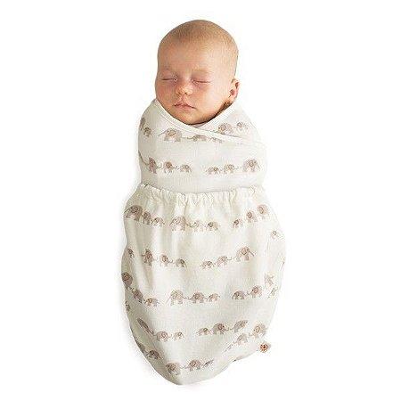 Swaddler Ergobaby - O Inovador e Premiado Cueiro para o seu Bebê Dormir Melhor (02 unidades) - Elefante e Natural