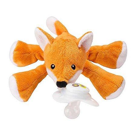 Paci Plushies Nookums Raposa Fox - Prendedor de Chupeta Universal