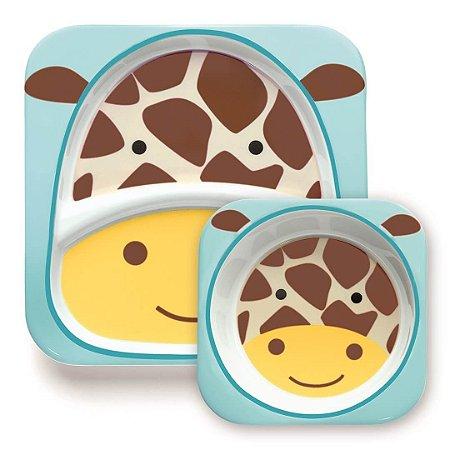Conjunto de Pratos  ZOO Girafa - Skip Hop