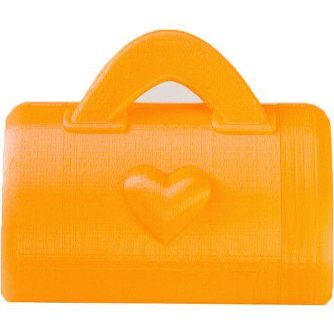 Porta Caca com Case Chaveiro Bolsa Laranja com 12 Saquinhos - Baby & Me