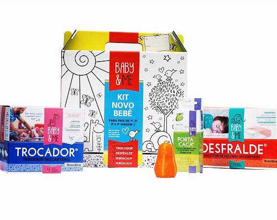 Kit Novo Bebê para Desfralde com Caixa para Colorir - Baby & Me