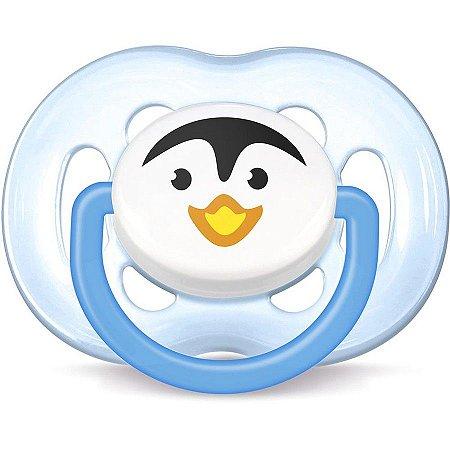 Chupeta Ortodôntica Free Flow 6-18 Meses Pinguim Azul - Philips Avent
