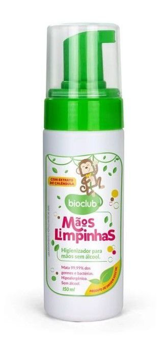 Spray Higienizador para Mãos sem Álcool (Fórmula Hidratante) 150ml - Bioclub Baby