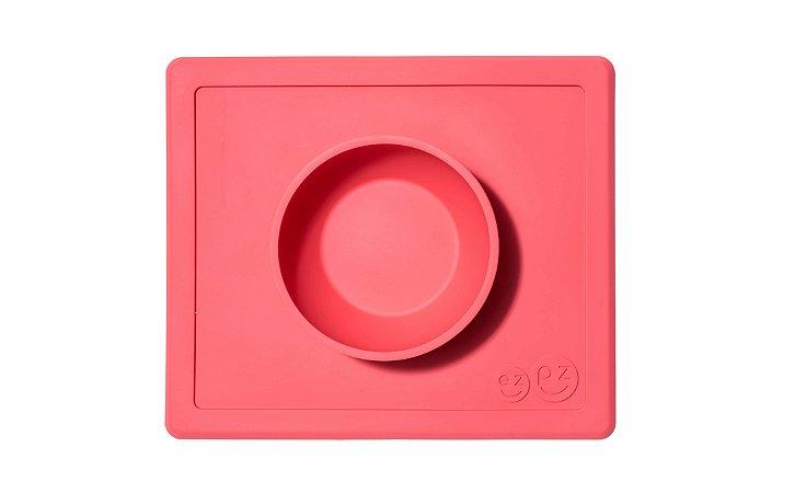 Jogo Americano com Tigela Acoplada Happy Bowl Coral - EZPZ
