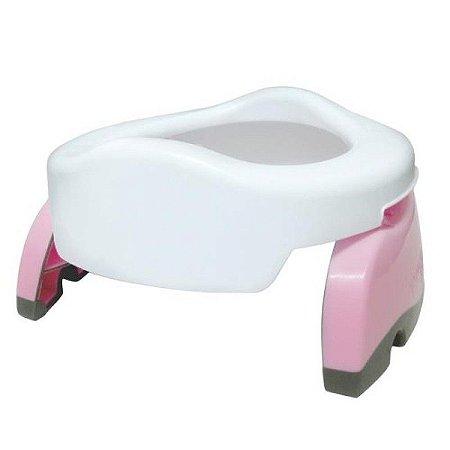 Potette Plus 2 em 1 - Privadinha Portátil e Redutor Sanitário - Rosa e Branco