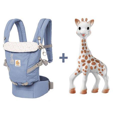 SUPER COMBO ESPECIAL - Canguru Ergobaby Adapt Sophie La Girafe + Mordedor Girafa Sophie Vulli