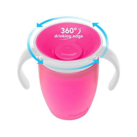 Copo de Treinamento 360 (Miracle Cup) Rosa - Munchkin