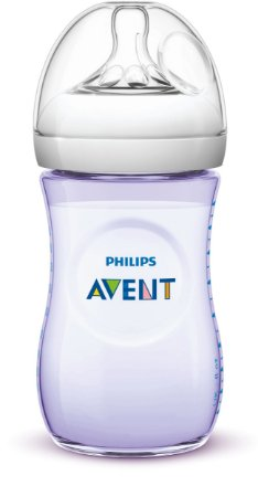 Mamadeira Pétala Anti-Cólica 260ml 1+ Meses Lilás - Philips Avent