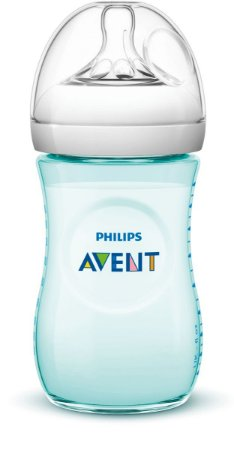 Mamadeira Pétala Anti-Cólica 260ml 1+ Meses Azul Turquesa - Philips Avent
