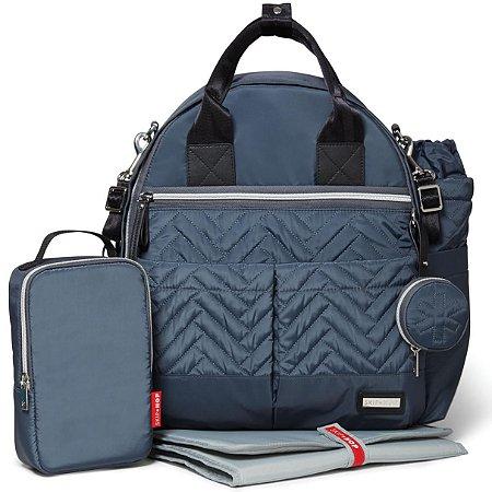 Bolsa Maternidade (Diaper Bag) com Trocador - Suite BackPack 6 peças (Mochila) Steel Grey - Skip Hop